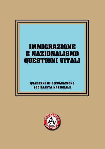 Quaderno 05. Immigrazione e Nazionalismo