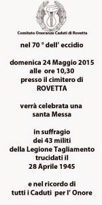 INVITO  BLOG ROVETTA 2015